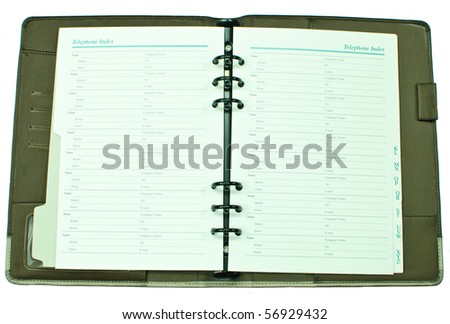 Isolated telephone book inside - stock photo