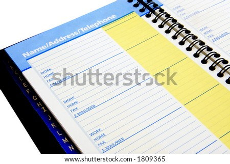 Isolated Telephone Book on white background. - stock photo