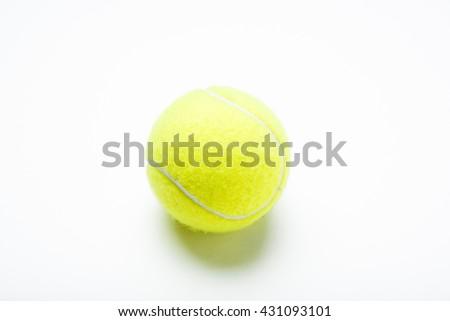 isolated tennis ball - stock photo