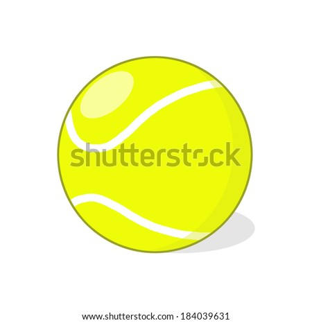 Isolated Tennis Ball illustration; Tennis Ball Drawing - stock photo