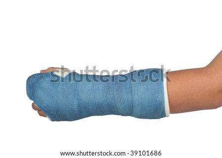 Isolated texture blue cast over white background - stock photo