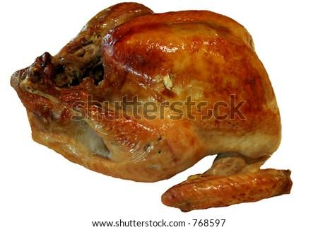 isolated thanksgiving turkey - stock photo