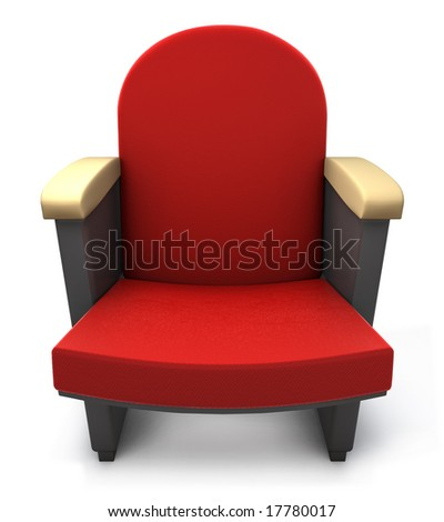 Isolated theater chair - stock photo