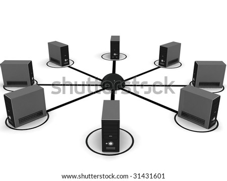 isolated three dimensional black cpu - stock photo