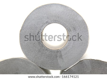 Isolated toilet paper - stock photo