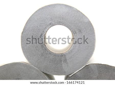 Isolated toilet paper - stock photo
