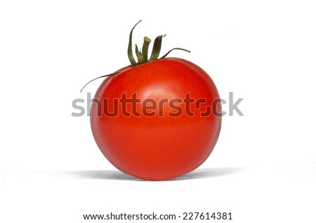 Isolated tomato fruit on a white background