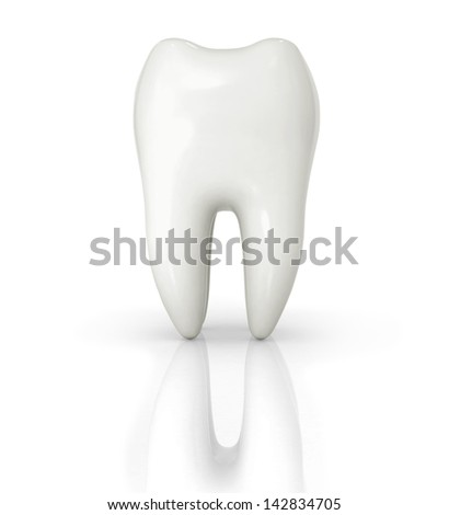 isolated tooth 3d illustration - stock photo
