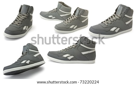isolated trainers on a white background