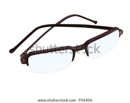 Isolated transparent glasses - stock photo