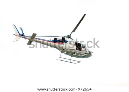Isolated TV Helicopter - stock photo