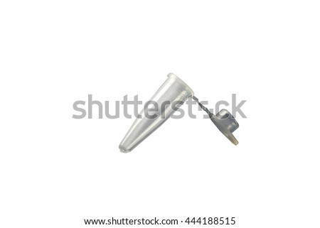 Isolated Vial - White Background  - stock photo