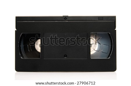 Isolated video casette - stock photo
