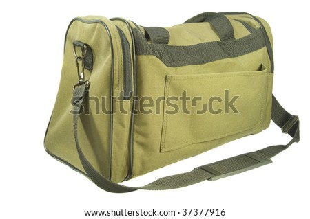 Isolated view of overnight/carry on luggage. - stock photo