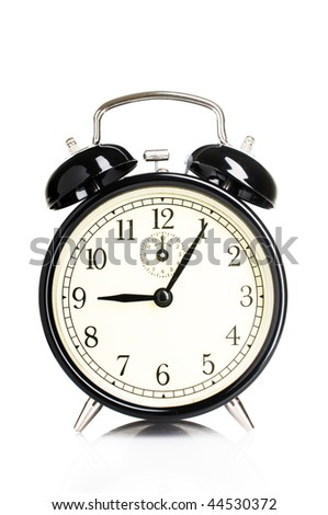 Isolated vintage alarm-clock
