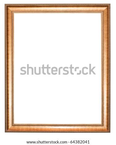 Isolated vintage photo frame - stock photo