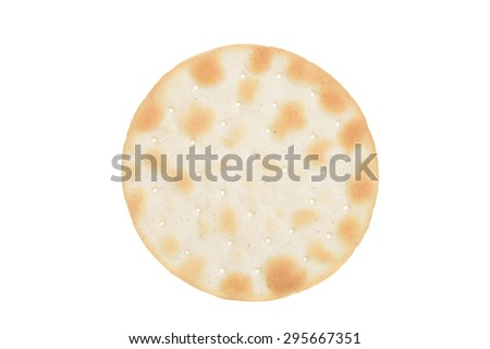isolated water cracker - stock photo