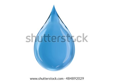 isolated water drop,3d rendering