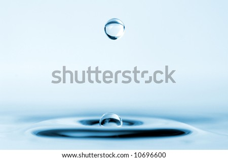 isolated water droplet - stock photo