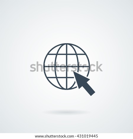 Isolated Web Icon illustration with a shadow. web Icon JPG, web Icon Graphic, web Icon Picture, web Icon JPEG, web Icon Art, web Icon, web sign, web symbol - stock photo