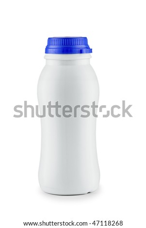 isolated white bottle