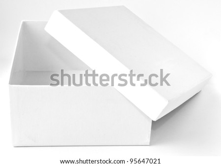 Isolated white box - stock photo