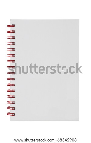 isolated white cover notebook - stock photo