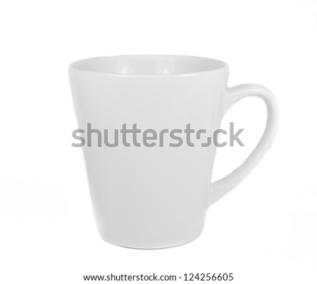 Isolated white cup