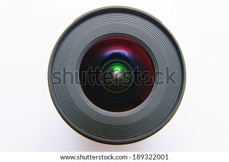 Isolated wide angle lens - stock photo