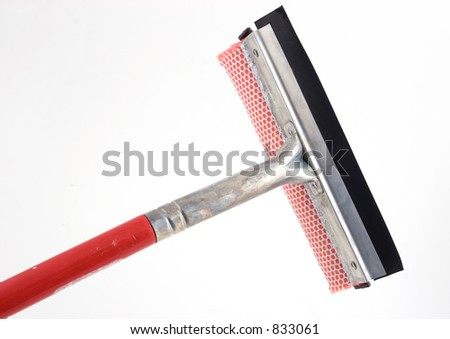 isolated window washing brush