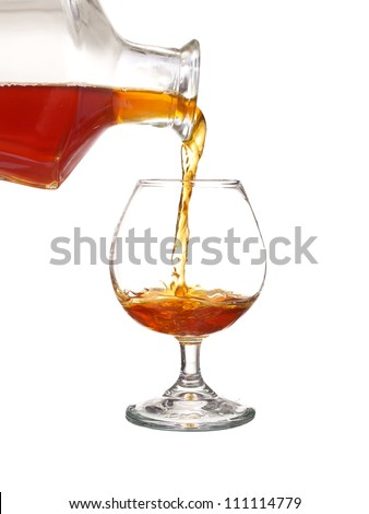 Isolated wineglass with scotch. Concept and idea - stock photo