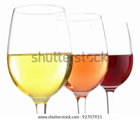 isolated wineglasses