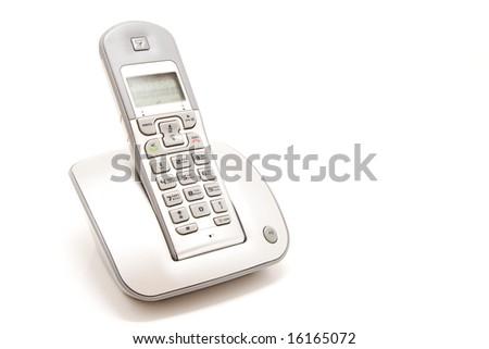 isolated wireless telephone - stock photo