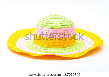 Isolated woman hats