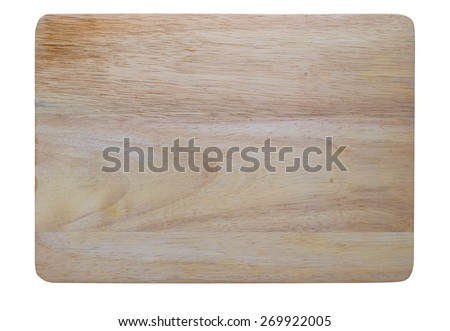Isolated wooden chopping block with clipping path - stock photo