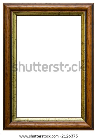 Isolated wooden frame. Wooden frame isolated on white background - stock photo