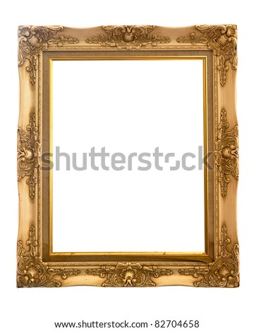 Isolated wooden Photo Frame on white background - stock photo