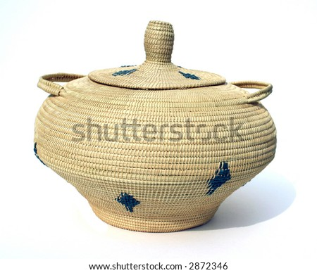 isolated woven water basket