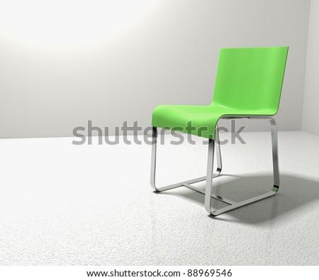 Isolation Chair - stock photo