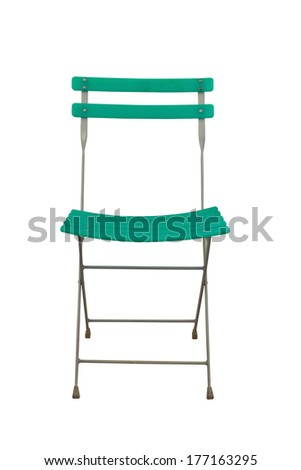 Isolation green chair - stock photo