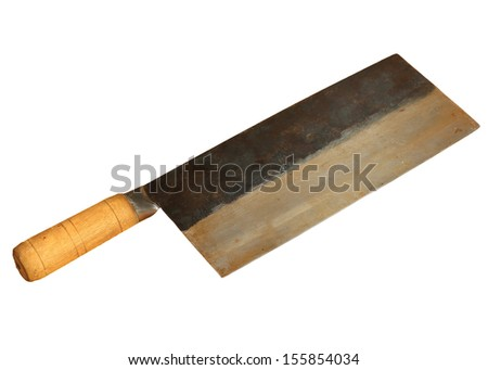 Bon Isolation Of Traditional Chinese Vegetable Cleaver With Wood Handle U0026  Carbon Steel Blade
