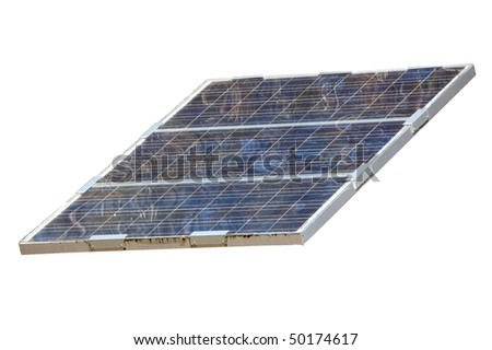 isolted object , white background , solar panel electricity industry