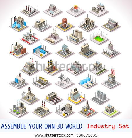 Stock images similar to id 232574227 factory industry manufactory Design your own house game 3d