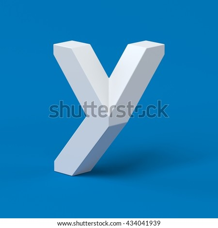 Isometric font letter Y 3d - stock photo