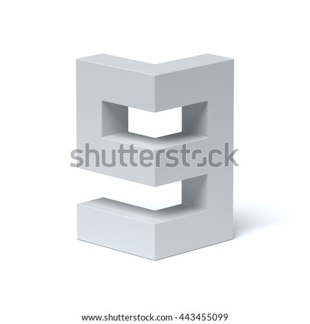 Isometric font number 9 3d rendering