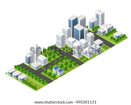Isometric perspective city
