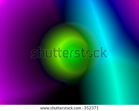 Isotope - green ball - stock photo