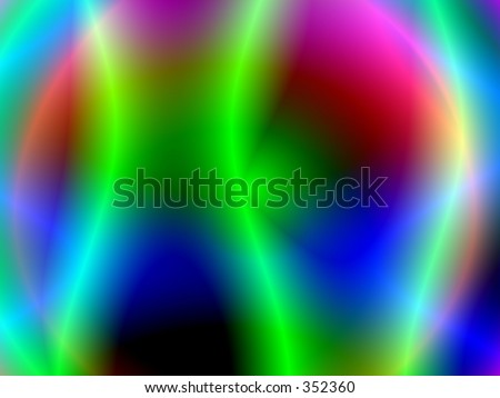 Isotope - green lines - stock photo