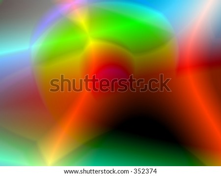 Isotope - red curves - stock photo