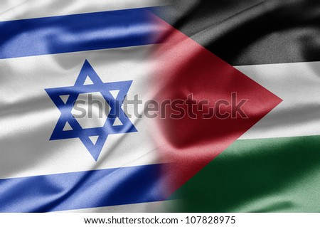 Israel and Palestine - stock photo